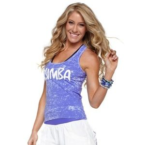 Zumba Racerback Cloud Nine Racerback Tank Top Tee